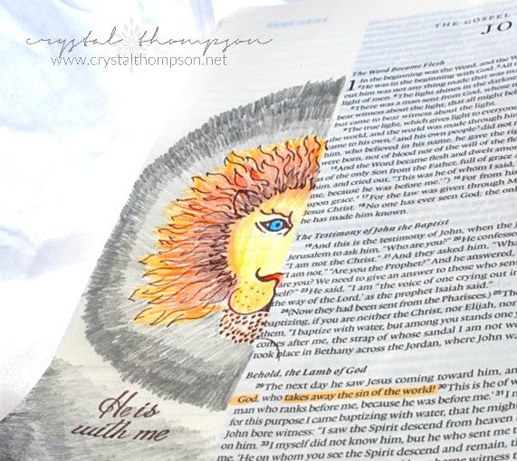 Clear Stamps - Lion and Lamb | Bible Journaling Clear Stamps - Joy Clair - 8