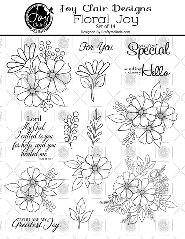 Floral Joy Digital Stamp Set
