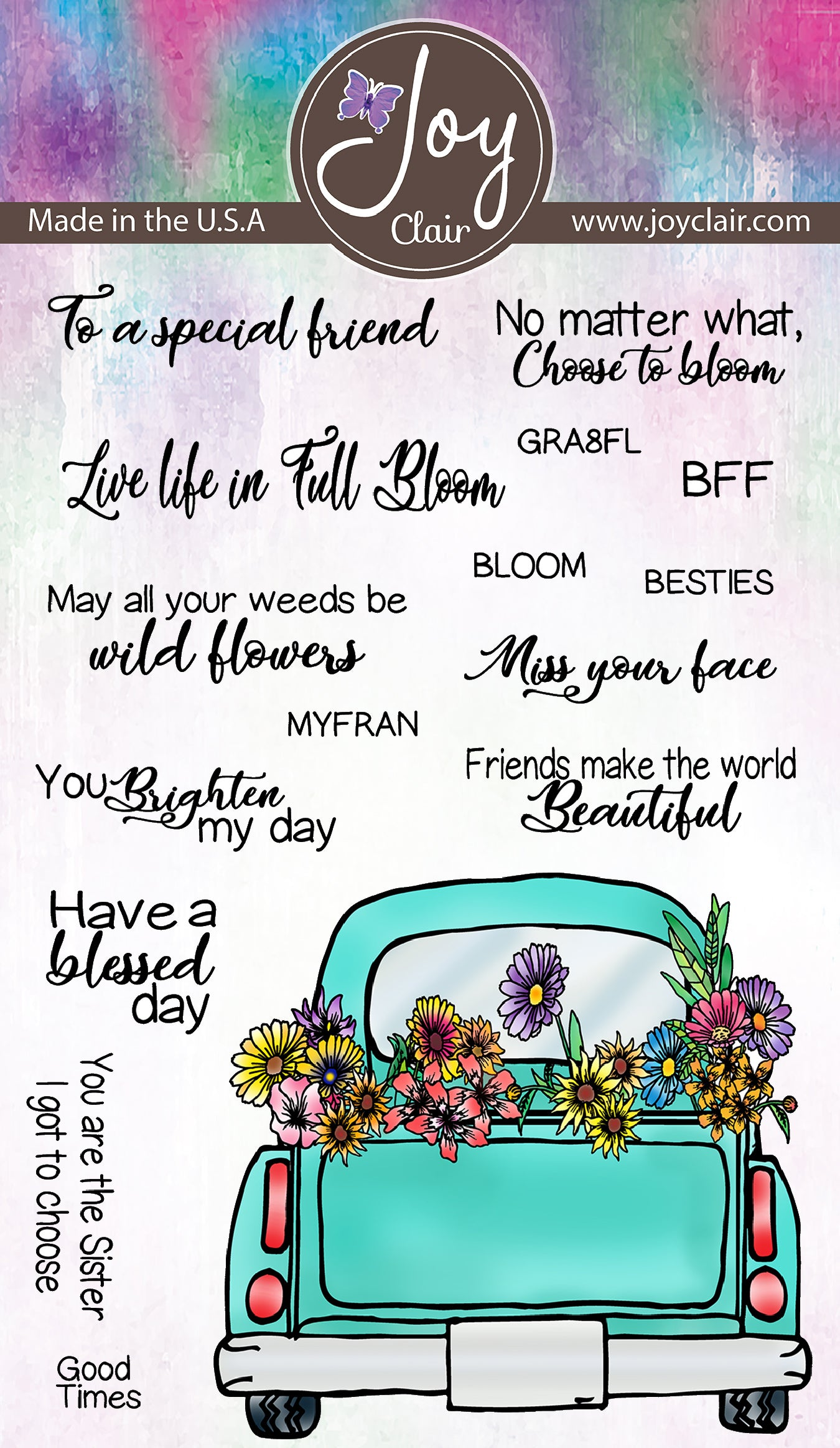 Friends and Flowers  Clear Stamps