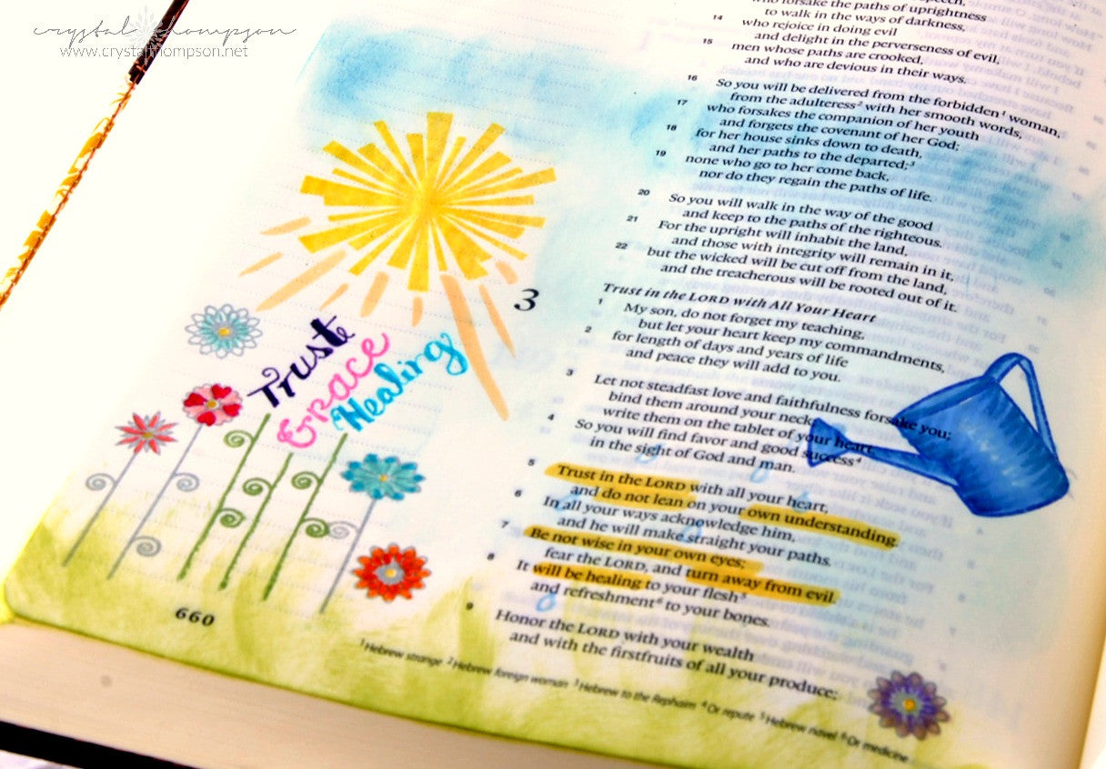 Clear Stamps - Grow with Faith |  Bible Journaling Clear Stamps - Joy Clair - 12