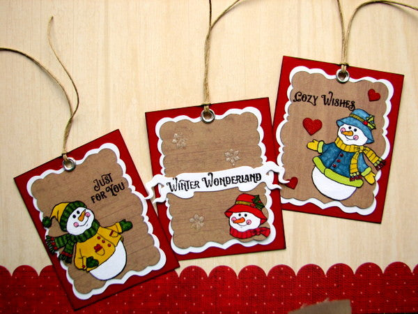 Cozy Snowman Wishes Clear Stamps - Joy Clair - 2