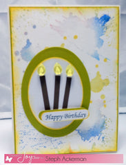Uh-Oh Ink Splatter Clear Stamps - Joy Clair - 5