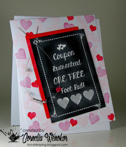 Love Coupon Clear Stamps