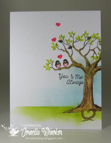 The Love Tree Clear Stamps