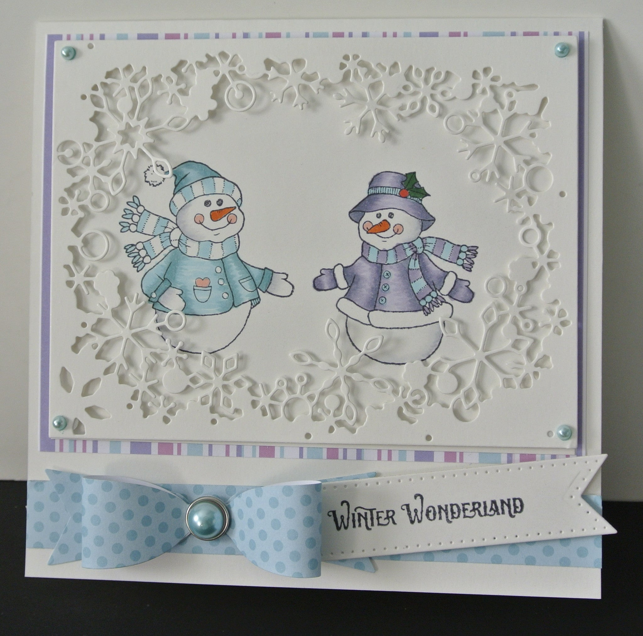Cozy Snowman Wishes Clear Stamps - Joy Clair - 12