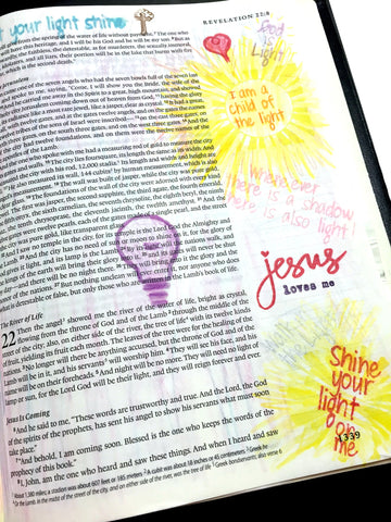 Let the Light Shine | Bible Journaling Clear Stamps