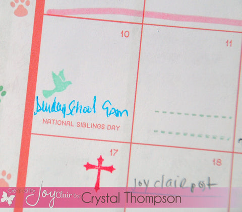 Bible Planner Bible Journaling Clear Stamps