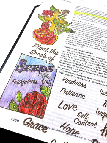 Seeds of Faith | Bible Journaling Clear Stamps