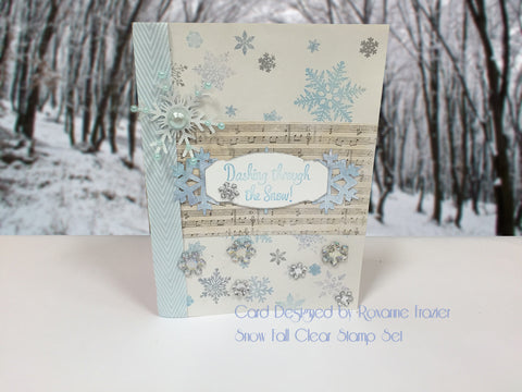 Snow Fall Clear Stamps