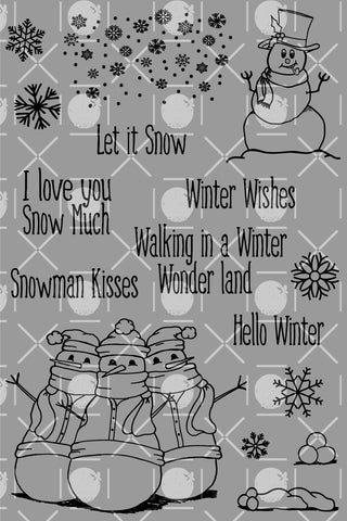 Snowy Greetings Digital Set