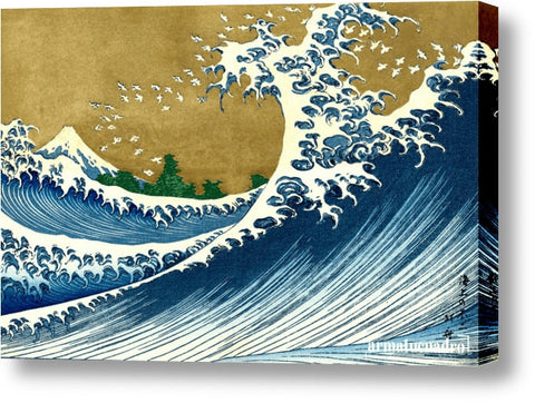 Cuadro Obras De Arte, Mar, Olas, Tormenta Hokusai The Big Wave (From 100 Views Of Mt. Fuji)