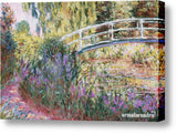 Cuadro Obras De Arte, Arte Impresionista, Puente, Lago Claude Monet The Japanese Bridge, Pond With Water Lillies (Detail)