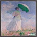 Cuadro Obras De Arte, Arte Impresionista, Mujeres Claude Monet Woman With A Parasol (Right)