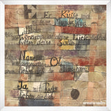 Cuadro Obras De Arte, Abstracto Paul Klee Version Ii (From The Song Of Songs