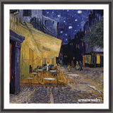 Cuadro Obras De Arte, Arte Posimpresionismo, Calle Vincent Van Gogh Cafe Terrace At Night