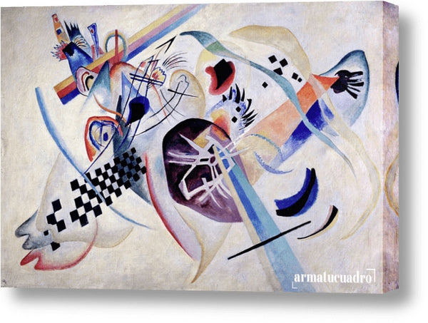 Cuadro Obras De Arte, Abstracto, Colorido Wassily Kandinsky Composition N. 224, On The White