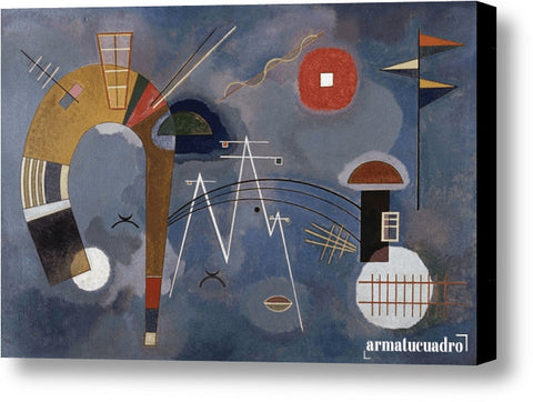 Cuadro Obras De Arte, Abstracto Wassily Kandinsky Round And Pointed