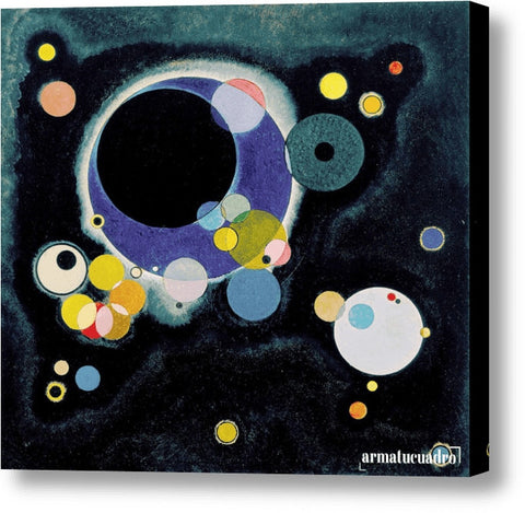Cuadro Obras De Arte, Abstracto Wassily Kandinsky Sketch For Several Circles