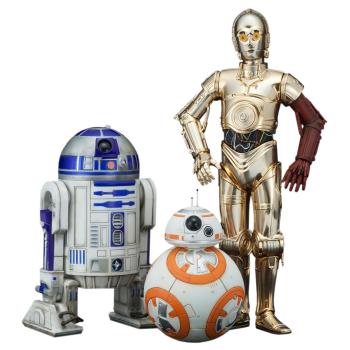 R2-D2, C-3PO And BB-8 1/10