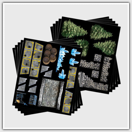 TerraTiles: Battle Pack - Modular Walls, Trees, and More