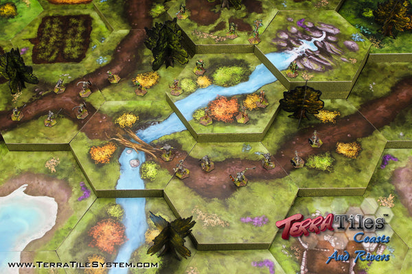 TerraTiles: Paths, Coasts & Rivers - Modular Tabletop Terrain