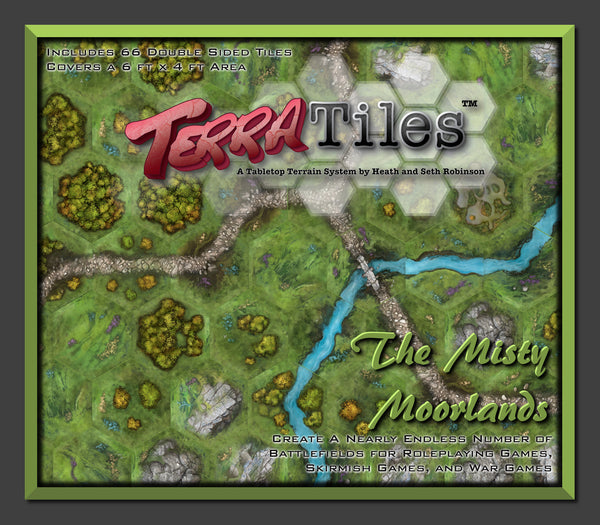 TerraTiles Modular Tabletop Terrain for RPGs and wargames - The Misty Moorlands Box Top