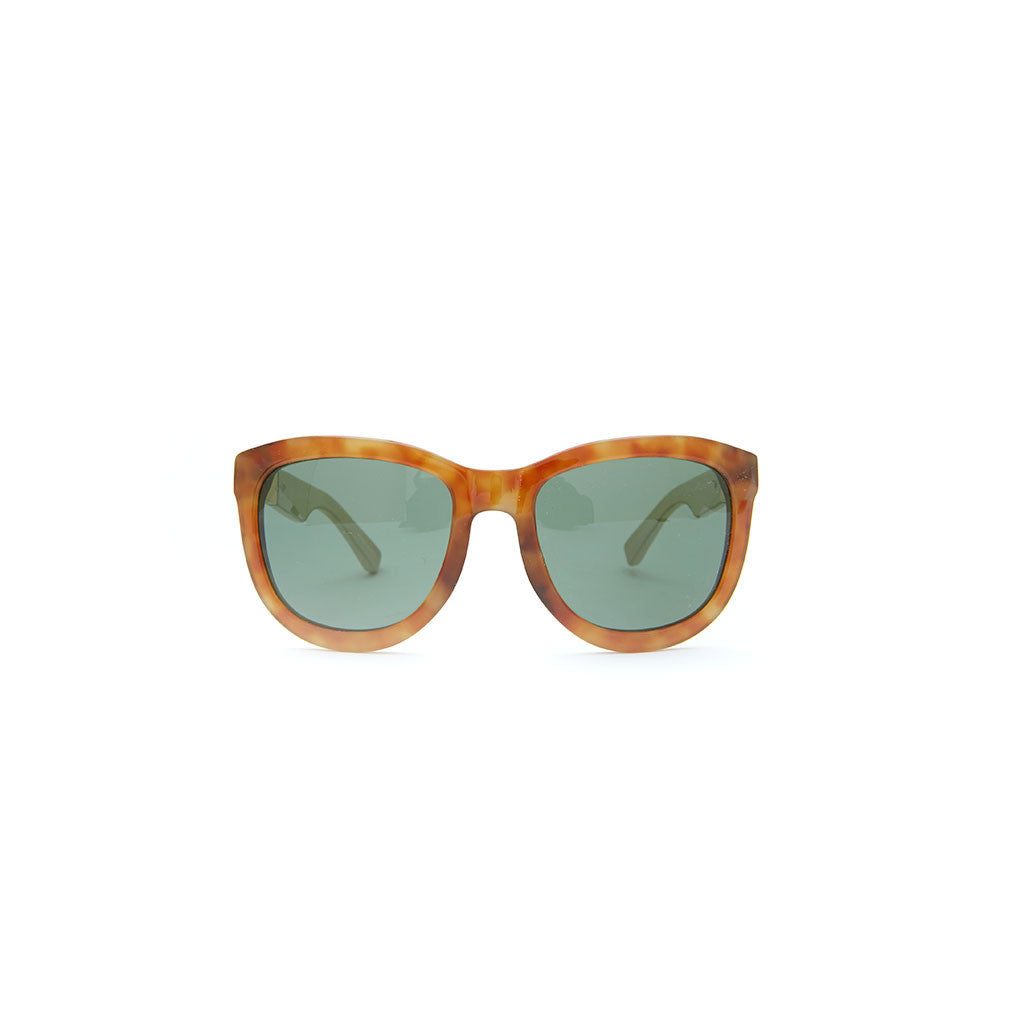 Linda Farrow x THE ROW 7 in Tortoise with White temples