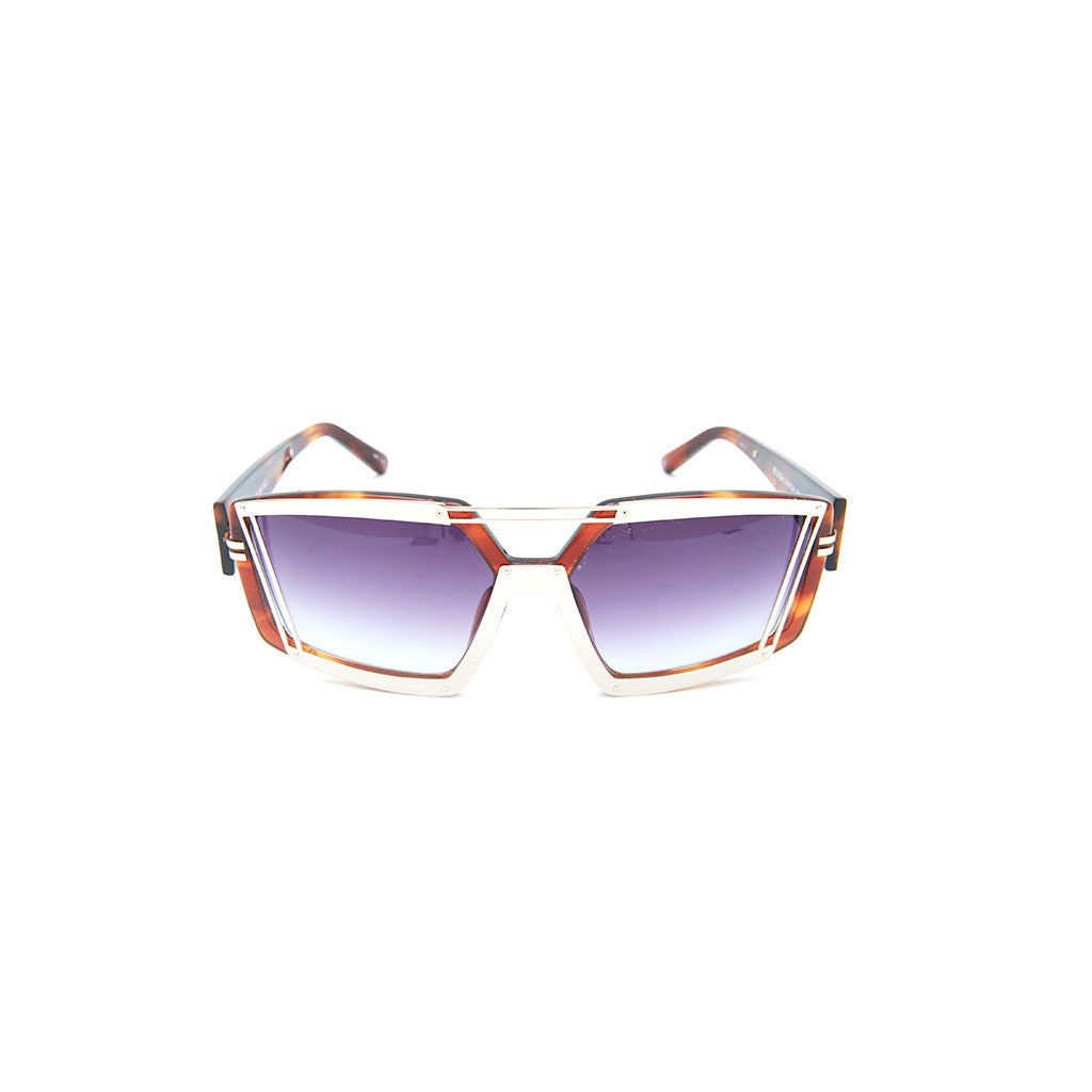Linda Farrow x Prabal Gurung 3 in Chrome Tortoise