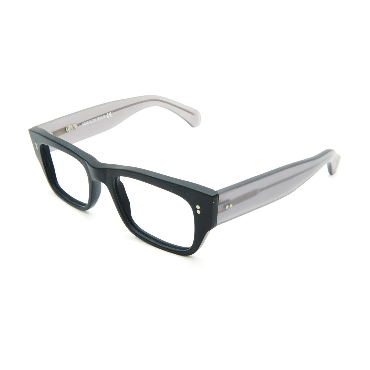 Garrison — Matte Black with Grey Temples