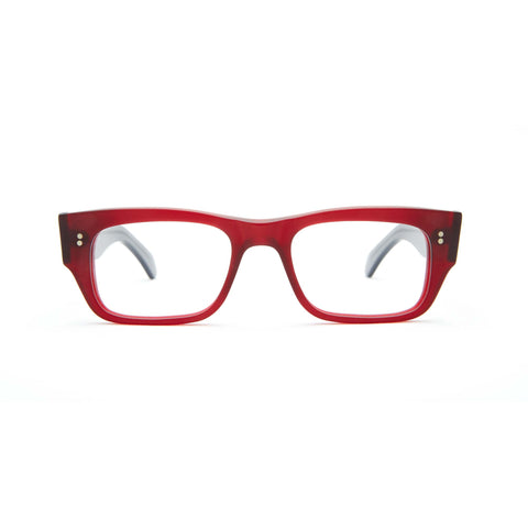 Garrison Rd. Matte Bordeaux with Grey Temples