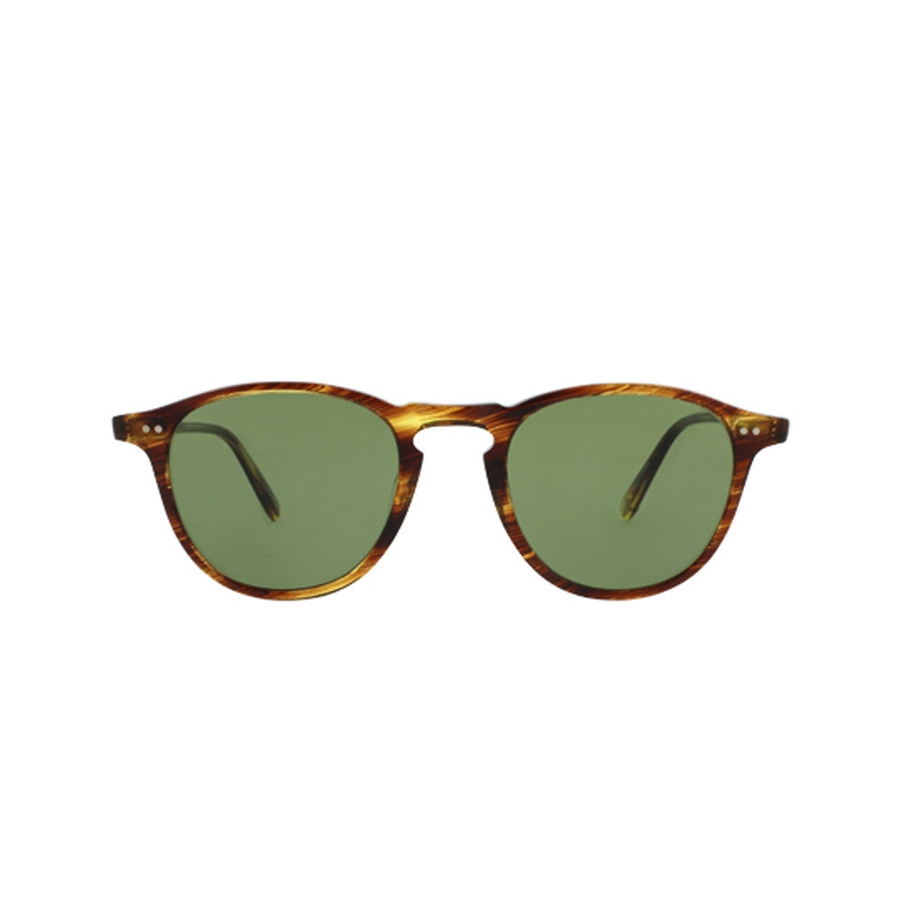 Hampton in Chestnut with Pure Green Glass Lenses