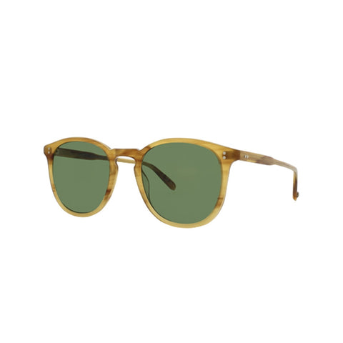 Kinney Blonde Tortoise Fade with Pure Green lenses