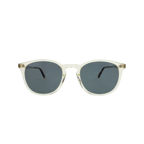 Kinney Champagne with Champagne Dark Tortoise Fade temples and Blue Smoke Polarized glass lenses