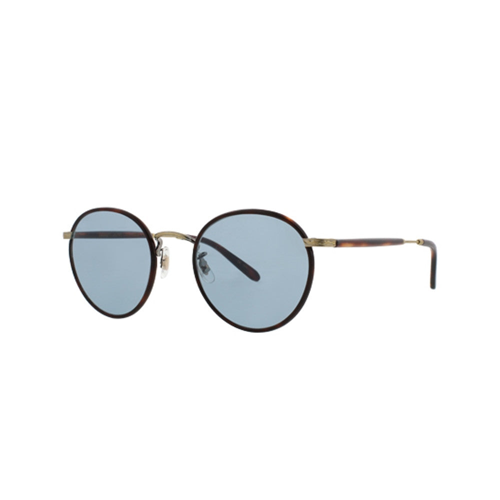 Wilson Amber Tortoise with Cognac Tortoise temples and Pure Blue glass lenses