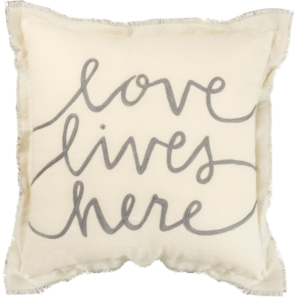 PILLOW LIVES HERE FRINGE