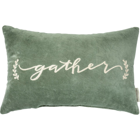 PILLOW GATHER GREEN