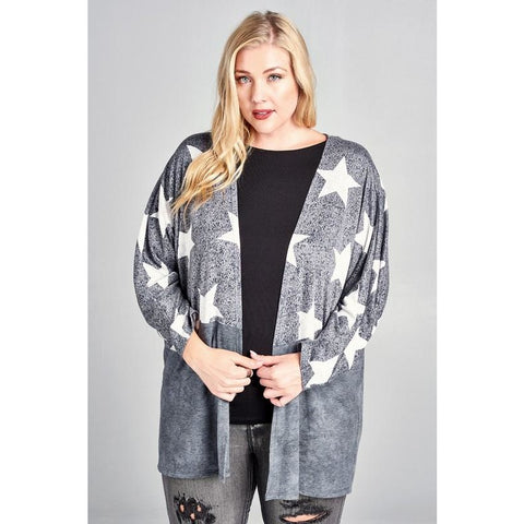 GREY STARRY NIGHT CARDIGAN