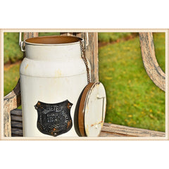 Cream Handle Lidded Canister