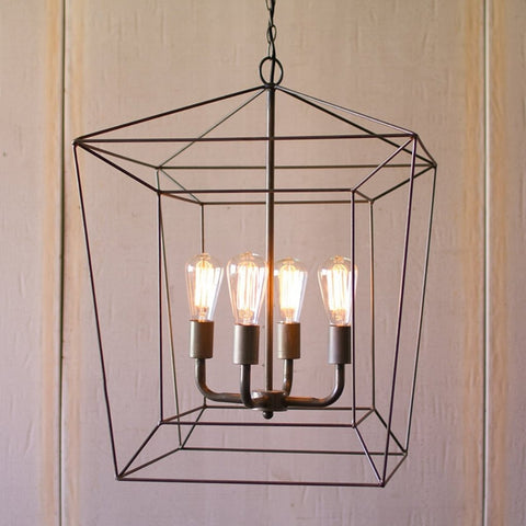 SQUARE IRON BAR PENDANT