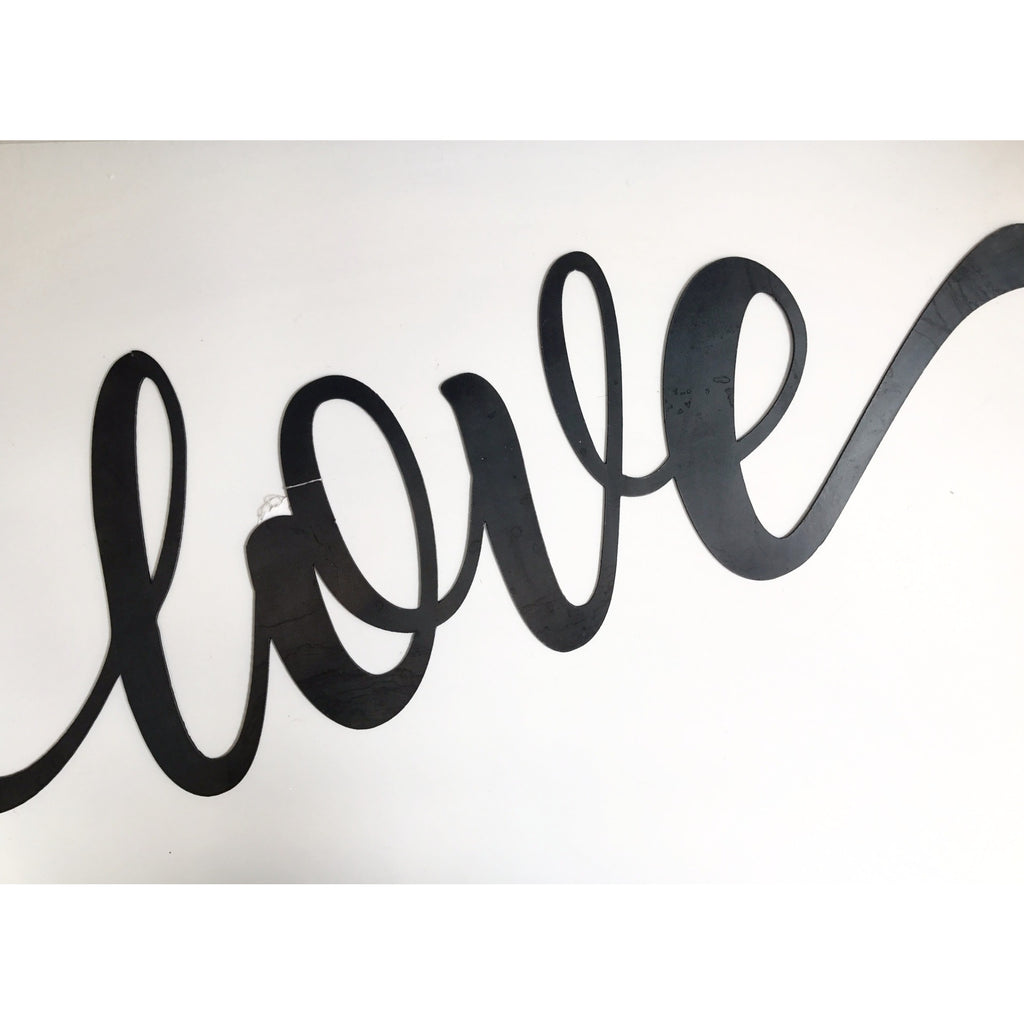 Handmade - Love Steel Sign
