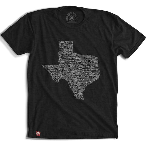 BLACK TEXAS TOWNS TEE