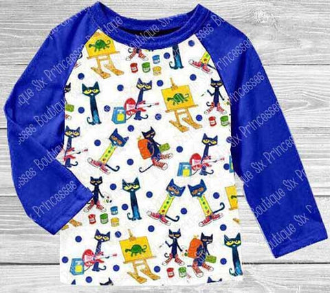 PETE THE CAT Adult Unisex Raglan Shirt size 4X Plus size (only one) BSK12