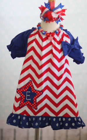 4th of July Star Dress chevron Patriotic