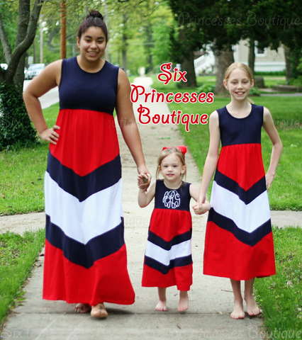 4th of July Maxi Dress Girls 18mo & 2T