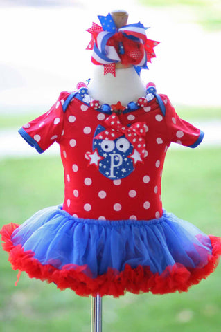 4th Of July Patriotic Tutu Dress Romper 6-12mo Only