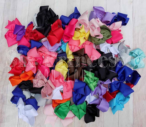 "4"" or 6"" Grosgrain Bows Bundle"