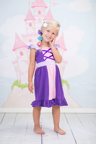 Princess Dress - Rapunzel Inspired Sweet Tangled Girl