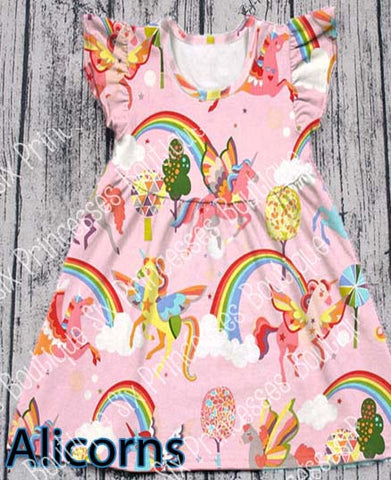 Alicorns Unicorn Flutter Dress 3T Only