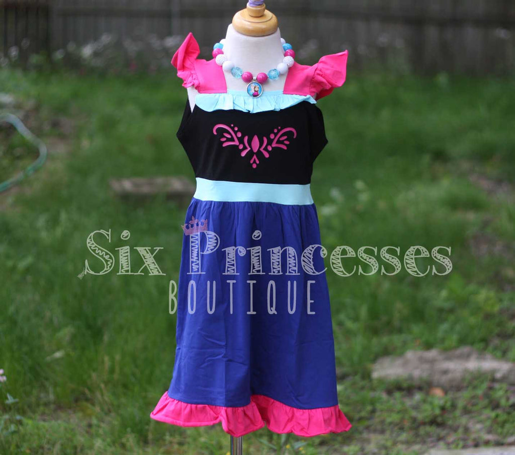 Princess Dress - Anna Inspired Frozen Sisters