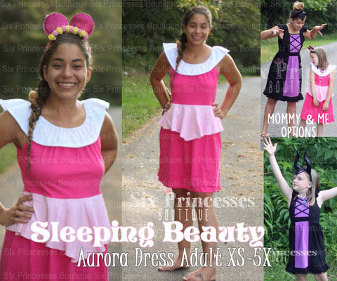 Princess Mommy Dress - Adult Size Aurora Sleeping Beauty Inspired Disney Costume